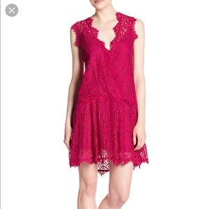 NWT FREE PEOPLE Heart in Two Lace Minidress